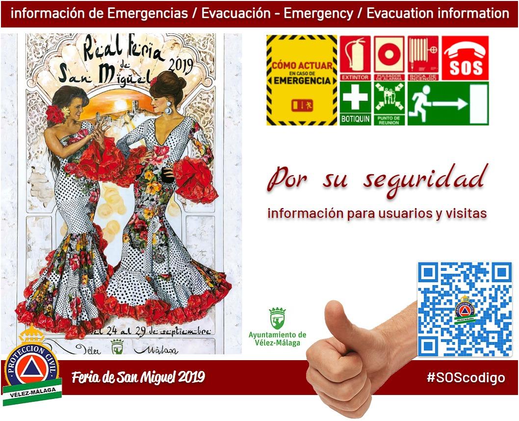 Plan de autoprotección, seguridad, emergencias e información útil de la Real Feria de San Miguel