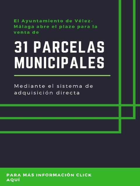 Abierto el plazo de solicitud para la adjudicación directa de parcelas del Patrimonio Municipal de Suelo de Vélez-Málaga